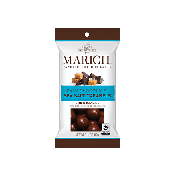 Dark Chocolate Sea Salt Caramels Single Serve