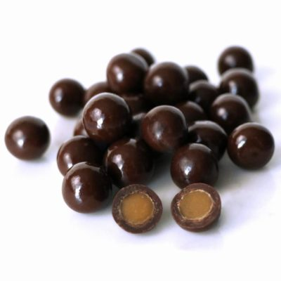 Dark Chocolate Sea Salt Caramels Bulk