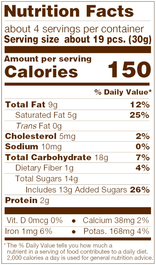 Triple Chocolate Barista Blend Nutrition Facts