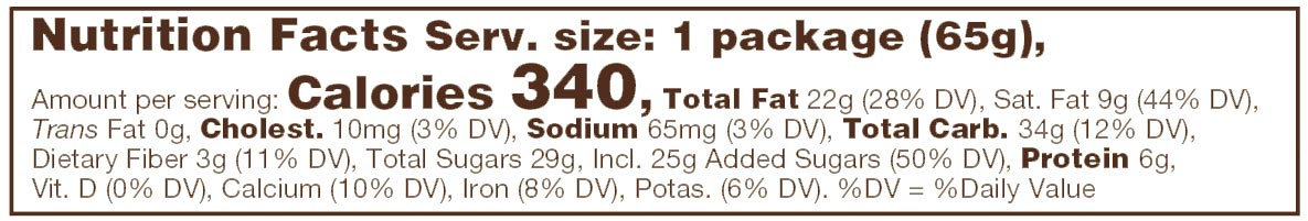 Milk Chocolate Toffee Almonds Nutritional Facts