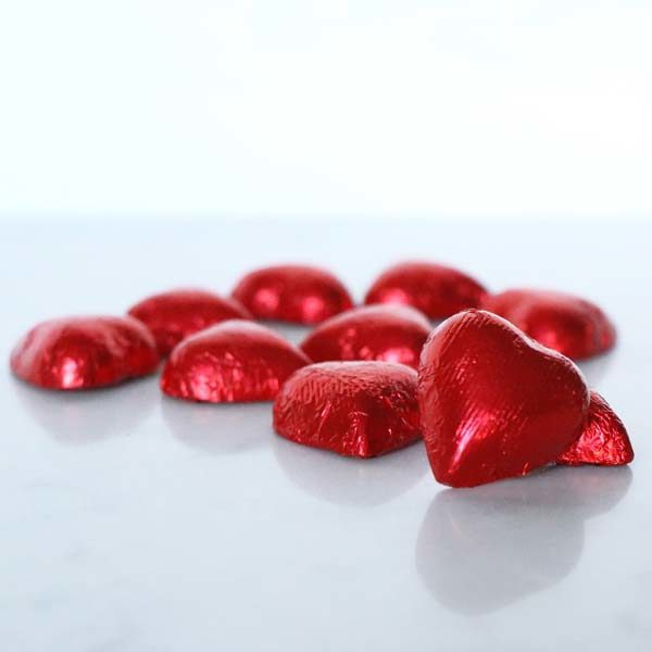 Valentine Milk Chocolate Foil Hearts