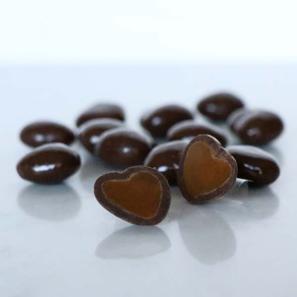 Valentine Dark Chocolate Caramel Hearts
